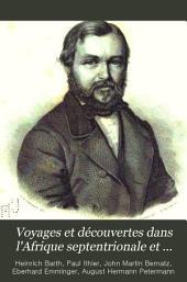 Voyages et découvertes dans l'Afrique septentrionale et centrale pendant les années 1849 à 1855: Volume1