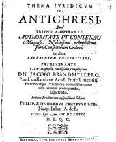 Thema iur. de antichresi