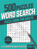 500 Word Search Puzzle Book for Adults PDF
