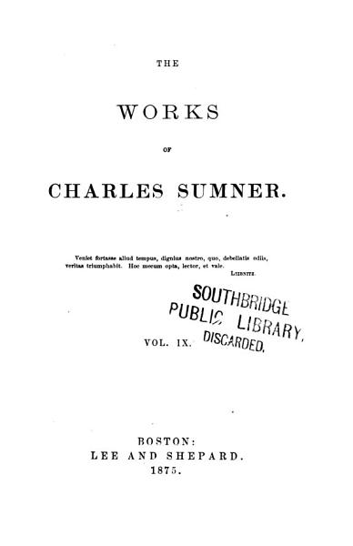 The Works of Charles Sumner