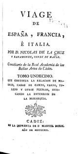 Viage de Espanã, Francia, é Italia: Volumen 11