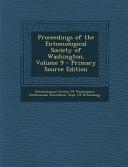 Proceedings of the Entomological Society of Washington  Volume 9   Primary Source Edition