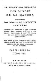 El ingenioso hidalgo Don Quixote de la Mancha: Volumen 8