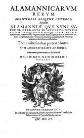 Alamannicarum rerum scriptores ...