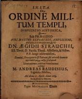Disp. hist. de ordine militum templi