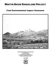 Humboldt-Toiyabe National Forest (N.F.), Martin Basin Rangeland Project: Environmental Impact Statement