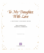To My Daughter, with Love