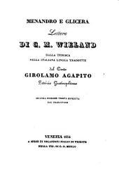 Menandro e Glicera. Lettere dalla tedesca nella italiana lingua tradotte dal conte Girolamo Agapito. 2. ed. Veneta riveduta dal traduttore
