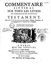 Bible en latin et en françois, avec un commentaire littéral et critique