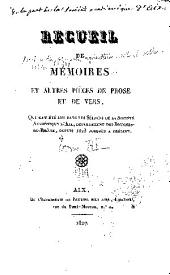 Mémoires: Volumes 3 à 4