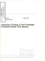 Laboratory Testing of Two Prototype In-vehicle Breath Test Devices. Technical Report