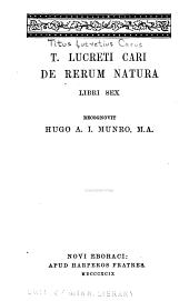 De rerum natura libri sex