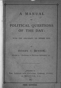 A manual of political questions of the day  extr  from A handbook to political questions    Lond  and counties Liberal union   PDF