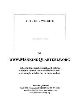 The Mankind Quarterly PDF
