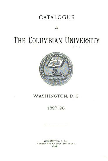 Catalogue of the Columbian College in the District of Columbia PDF