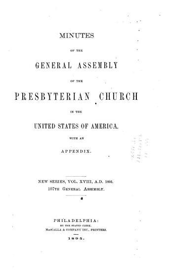 Minutes   United Presbyterian Church in the U S A  PDF