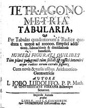 Tetragonometria tabularia