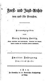 Forst- und Jagd-Archiv von und für Preussen: Band 2