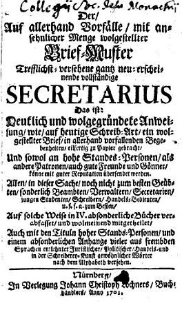 Der Auf allerhand Vorf  lle mit ansehnlicher Menge wolgestellter Brief Muster Trefflichst versehene gantz neu erscheinende vollst  ndige Secretarius     PDF