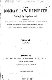 Bombay Law Reporter: Journal, Volume 6