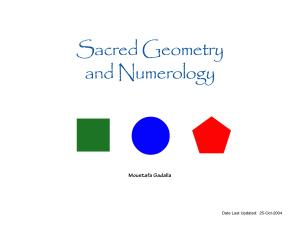 Sacred Geometry And Numerology Book
