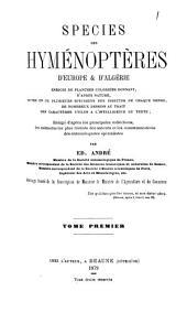 Species des hyménoptères d'Europe & d'Algérie: Les mouches à scies, by Edmond André