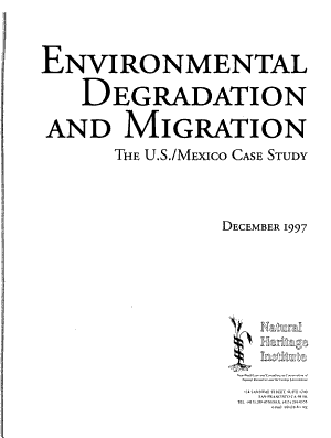 Environmental Degradation and Migration PDF