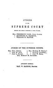 Reports of Cases at Law Argued and Determined in the Supreme Court of North Carolina: From December Term, 1853, to [June Term, 1862], Both Inclusive, Volume 1