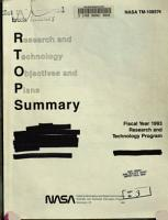 Research and Technology Objectives and Plans Summary  RTOPS  PDF