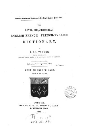 The Royal Phraseological English French  French English Dictionary