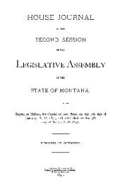 House Journal of the ... Legislative Assembly of the State of Montana
