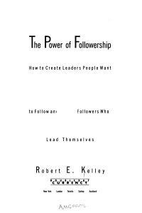 The Power of Followership