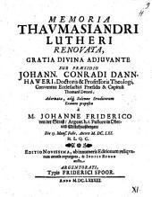 Memoria thaumasiandri Lutheri renovata
