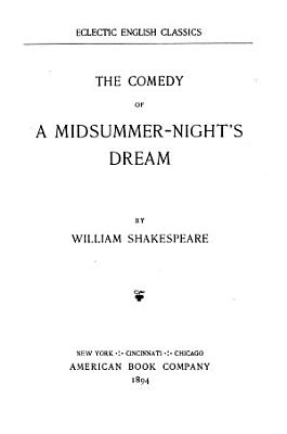 The Comedy of A Midsummer night s Dream PDF