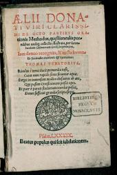 De octo partibus orationis Methodus ...