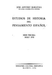 Estudios de historia del pensamiento espa  ol  El siglo del Barroco PDF