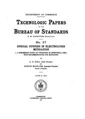 Technologic papers of the Bureau of Standards: Issue 27