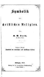 Symbolik der christlichen religion