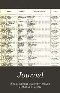 Journal of the House of Representatives of the General Assembly of the State of Illinois