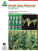South Asia Network on Plant Genetic Resources  SANPGR  PDF