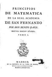 Principios de matemática de la Real academia de San Fernando: Volumen 1