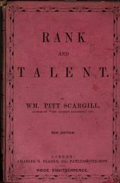 Rank and talent, by the author of 'Truckleborough hall'.