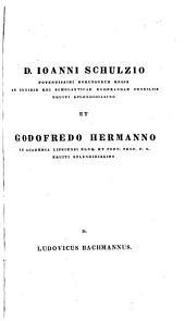 Lycophronis Alexandra, recens., J. Scaligeri interpretationem Lat. addidit L. Bachmannus