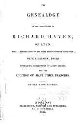 Address at the second meeting of the descendants of Richard Haven, of Lynn: held at Framningham, Mass., August 30, 1849