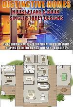 Home Design Book-Distinctive Homes-Floor Plans of low set single level homes House Plans