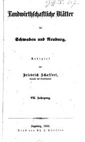 Landwirtschaftliche Blätter für Schwaben und Neuburg: Band 7