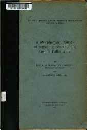 A Morphological Study of Some Members of the Genus Pallavicinia