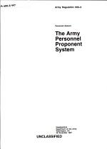 The Army Personnel Proponent System