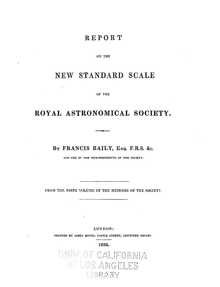Report on the New Standard Scale of the Royal Astronomical Society