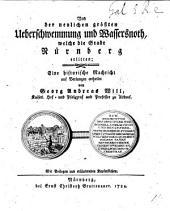 Von der neulichen grössten Ueberschwemmung und Wassersnoth, welche die Stadt Nürnberg erlitten. Eine historische Nachricht, etc